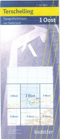 Topografische kaart van Oost Terschelling