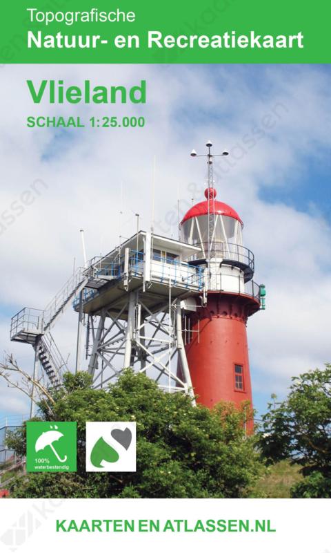 Topografische wandelkaart Vlieland