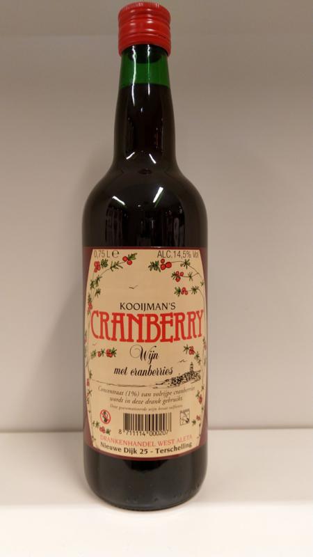 Cranberry wijn Kooijman's