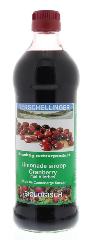 Terschellinger Cranberry-Vlierbes  Siroop, BIO
