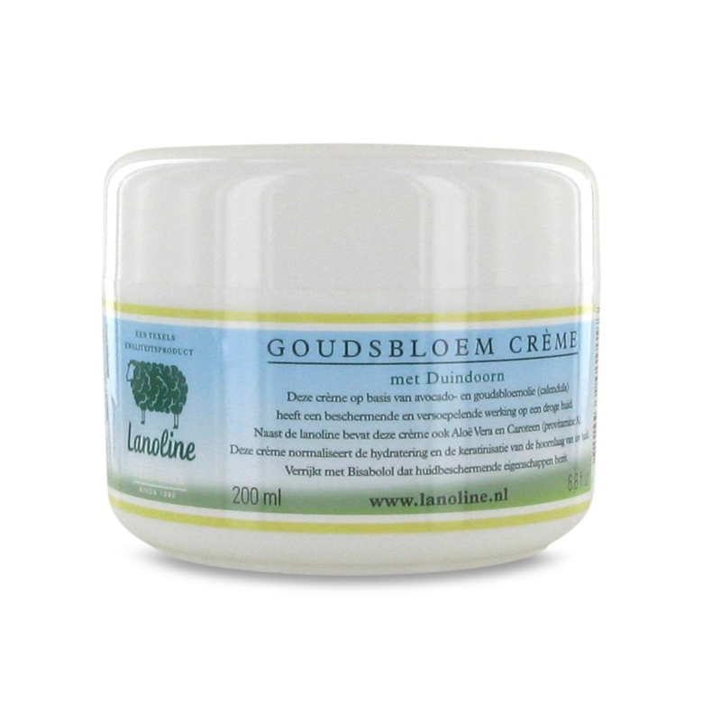 Texelana Lanoline Goudsbloemcrème, 200 ml.