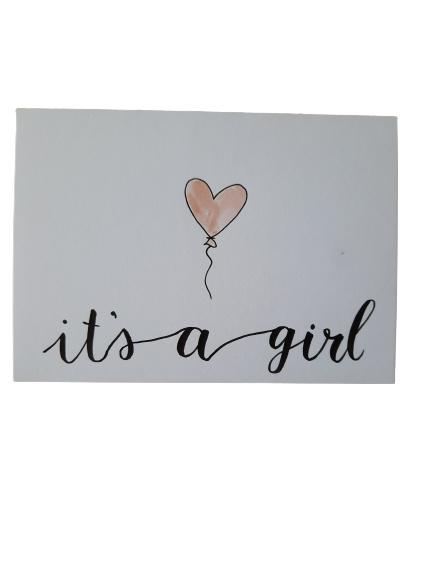 Kaart - It's a girl