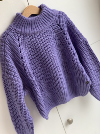 Madison   knitted oversize pull purple