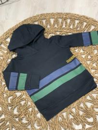 Sevenoneseve | sweater met hoodie - strepen