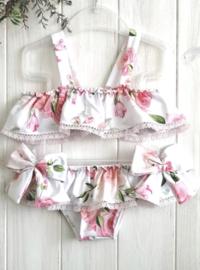 flower bikini met strikken
