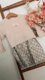 Gymp | knitted jurkje met velvet strikje