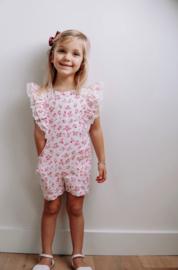 Petit Zara | neon flower jumpsuit