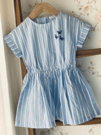 Gymp | blauw gestreept jurkje