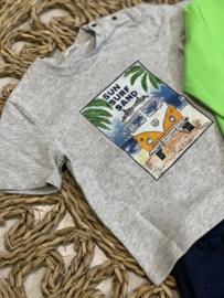 Gymp | grijze tshirt 'sun surf sand'