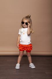 Le chic | rood/oranje broek-rokje