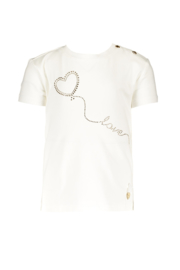 Le chic | tshirt golden heart on a string