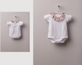 Wedoble | white bodysuit flower collar