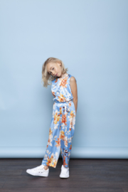 Le Chic | satin flower jumpsuit