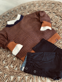 Sevenoneseven | knitted pull navy/brown