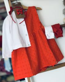 Gymp | rode broderie jurk
