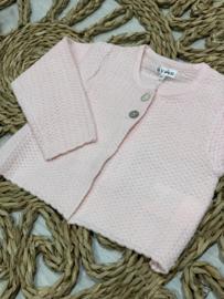 Gymp   crochet roze cardigan