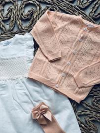 Wedoble   crochet gilet peach