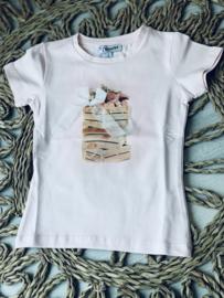 Yours | roze tshirt met tule strik