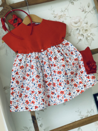 Wedoble | red flower dress