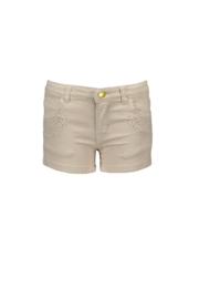 Le chic | beige denim short met studs