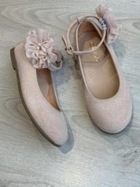 Clarys   oudroze ballerina met 3D bloem