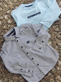 SOS | gestreept hemd wit/zwart