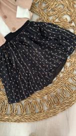 Gymp | zwarte rok met fijne gouddraad