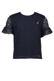 Le chic | navy lacy tshirt