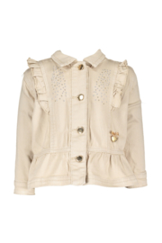 Le chic | beige denim jacket ruffle