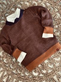 Sevenoneseven | knitted pull navy/brown