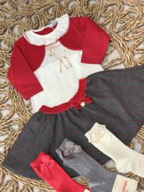 Dr.kid | grey skirt with polkadots