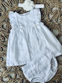 Dr.kid | wit plumenti jurkje met pamperbroekje
