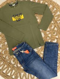Gymp | khaki longsleeve 'shut up'