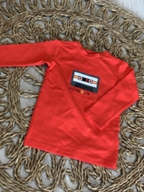Bampidano | rood/oranje longsleeve 'old school is cool'