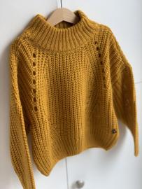 Madison   knitted oversize pull mustard