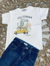 Yours | witte tshirt auto california
