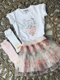 Yours | witte tshirt 'dont break my heart'