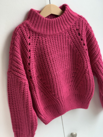 Madison   knitted oversize pull pink