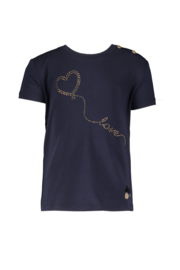 Le chic | navy tshirt heart on a string