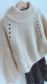 Madison   knitted oversize pull créme