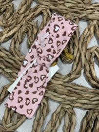 Le chic bébé   pink leopard haarbandje