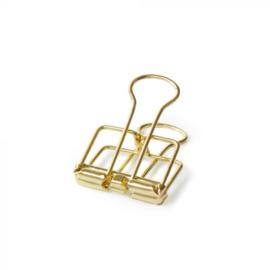 Binder clip S | Goud | 19 mm