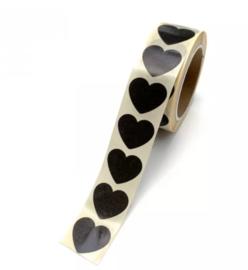 Stickers | Mini hart zwart | 10 stuks