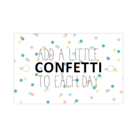 Kadokaart | Add a little confetti to each day