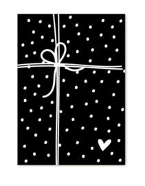 Kadokaart | zwart wit cadeautje