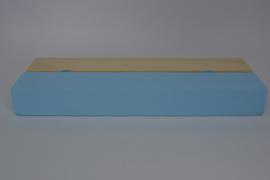 Kaartenhouder liggend lichtblauw enkel