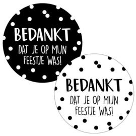 Stickers | Bedankt kinderfeestje | 10 stuks