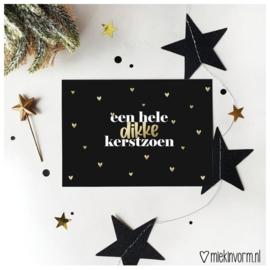 Kerstkaart | dikke kerstzoen