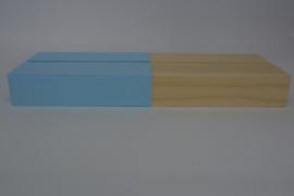 Kaartenhouder liggend lichtblauw dubbel