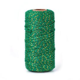 Bakkerstouw | groen metallic | 5 meter